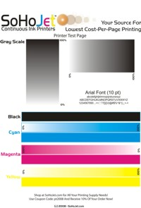 Printer Test Page Graphic (1.4MB) CMYK Model